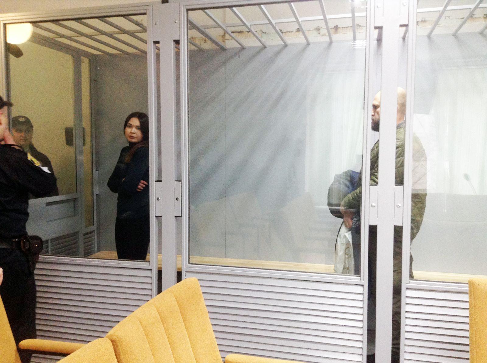Олена Зайцева і Геннадій Дронов у суді першої інстанції, Київському районному суді Харкова. Березень 2018 року
