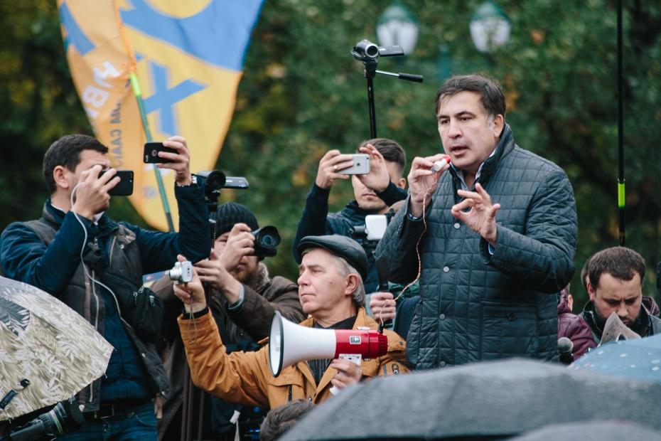 Саакашвілі у Харкові, 2017 рік. Фото Павла Пахоменка