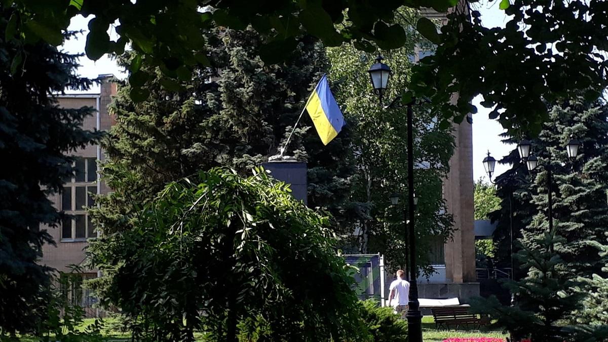 Постамент після знесення пам'ятника. Фото: UA: Харків