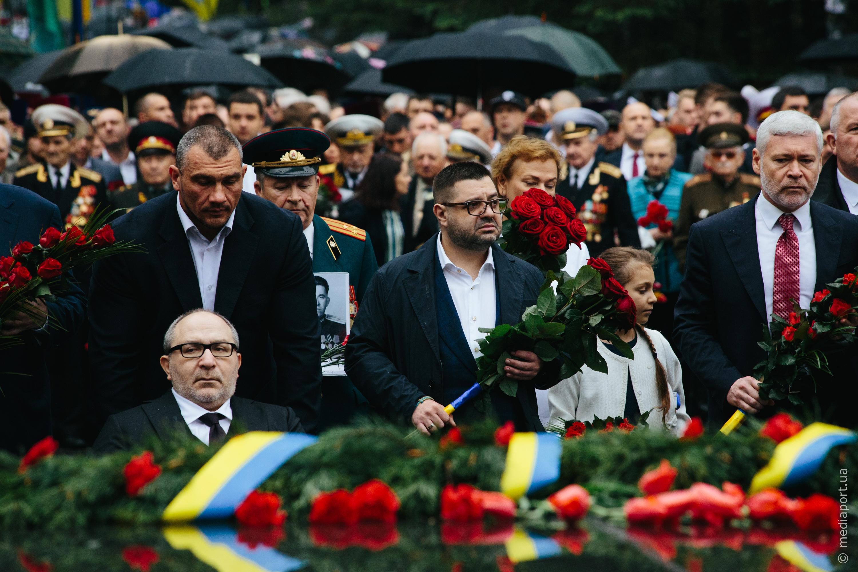 Геннадій Кернес 9 травня 2019 року на Меморіалі Слави